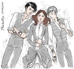 Will Herondale, Tessa Gray, and Jem Carstairs
