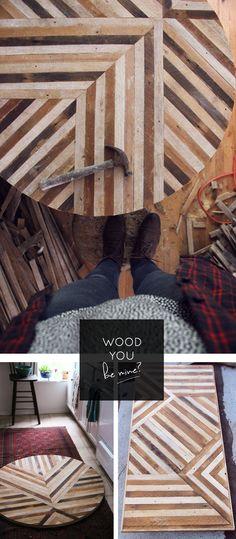 chevron wood designs using salvaged wood