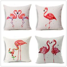2017 Flamingos Creative high quality Fashion  Cushion cover For Sofa Home or car Decorative pillowcase love couple pink #Affiliate