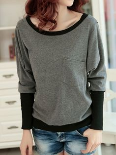 Comfortable Round Neck Blended Assorted Color Shirt Shirts from stylishplus.com