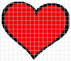 Big Red Heart Crochet Graphghan Pattern (Chart/Graph AND Row-by-Row Written Instructions)