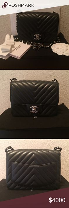 Black Caviar Chanel Mini Square Classic RARE ITEM! This is a beautiful black caviar mini square classic bag with silver hardware. BRAND NEW and never been used with protective plastic cover still on the hardware. Serial number reads 22xxxxxx. Includes Chanel box, original receipt, authenticity card, dust bag, care card, ribbon and Camelia flower. Stored in smoke-free and pet-free home. 🅿️🅿️ negotiable. No trade. CHANEL Bags Crossbody Bags