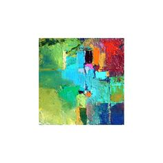 Fractal, Original Contemporary Abstract Painting by Missouri Artist... ❤ liked on Polyvore
