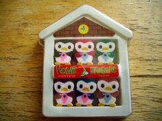 Penguin Home Erasers 80s Kawaii Erasers Fun School by JirjiMirji, €4.70
