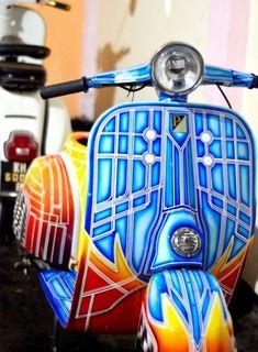 Vespa Full Color Bobber Motorrad Kleinwagen Und Roller