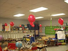 Countdown to the end of the year! Blow up 10 balloons and place different fun activities in them (picnic lunch, sit anywhere, etc.). Pop a balloon each day.