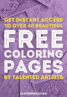 Discover a curated collection of over 40 free coloring pages for adults contributed by talented artists!