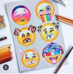 Emoji Drawing: From My babe App Drawings, Emoji Drawings, Cute Disney Drawings, Kawaii Drawings, Cute Drawings, Art Sketches, Amazing Drawings, Beautiful Drawings, Social Media Art