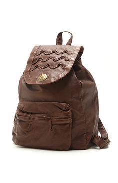 Pac Sun Rip Curl Faux Leather Backpack