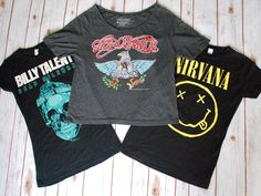 Band tees are the hottest thing since…well…ever! If you have yet to include one in your wardrobe, now is the time! #PlatosClosetBarrhaven #bandtees #musthave #rockon // #BillyTalent band tee, S, $6 // #Aerosmith band tee, S, $6 // #Nirvana band tee, M, $6 //