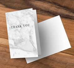White Marble Greeting Cards (50x) fully customisable! With envelopes