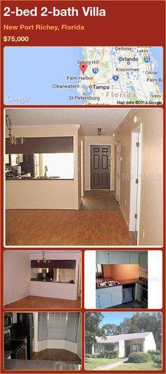 2-bed 2-bath Villa in New Port Richey, Florida ►$75,000 #PropertyForSale #RealEstate #Florida http://florida-magic.com/properties/72999-villa-for-sale-in-new-port-richey-florida-with-2-bedroom-2-bathroom
