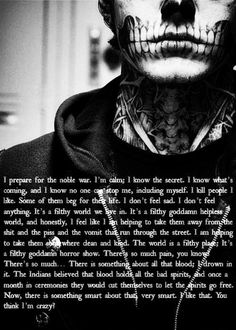 My favorite saying of Tate's