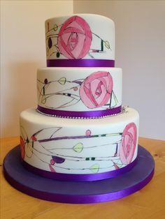 Charles Rennie Mackintosh wedding cake