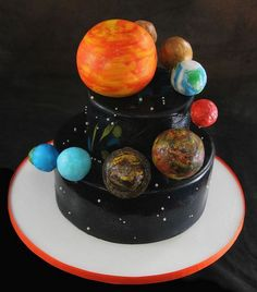 Solar System Cake. Click for view big size (600x682)