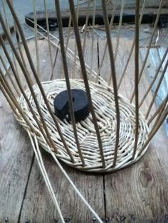 2 of 10 - washing basket being made - uprights in place and wale being woven Washing Basket, Decorative Bowls, Baskets, Home Decor, Hampers, Interior Design, Home Interior Design, Curves, Home Decoration