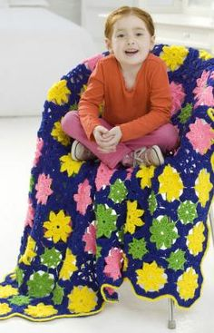 Bright Throw Free Crochet Pattern from Red Heart Yarns