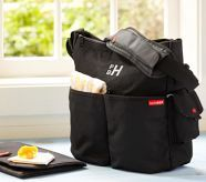 Skip Hop Duo Black Diaper Bag (for football games?  with last name embroidered)