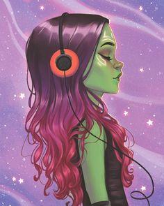 Marvel Avengers, Gamora Marvel, Avengers Fan Art, Marvel Fan Art, Marvel Girls, Marvel Funny, Marvel Memes, Gamora Comic, Marvel Comics Art