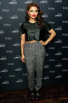 Vanessa White at a Laura Mvula performance - celebrity fashion