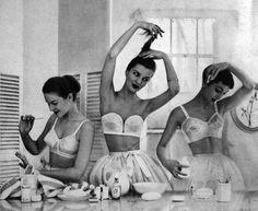 Fifties models on a shoot