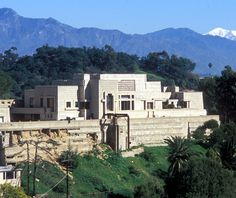 Frank Lloyd Wright's Ennis House in CA.  Not quite fair to say RUINS but you can see the substantial repairs needed from the picture which placed the house on the market.