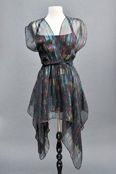 WIDOW CHIFFON HANDKERCHIEF DRESS - 92243 | ALTER