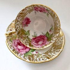 This item is unavailable Tea Cup Set, My Cup Of Tea, Tea Cup Saucer, Tea Sets, Vintage Dishes, Vintage Teacups, Antique Tea Cups, Cuppa Tea, China Tea Cups
