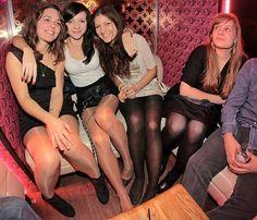 Pantyhose women in club
