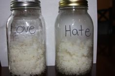 The Rice experiment - this is pretty amazing.  It is about the third entry down on her blog.  AMAZING!!! Need I say it again! I think we are going to try this example of loving, positive words in our life.