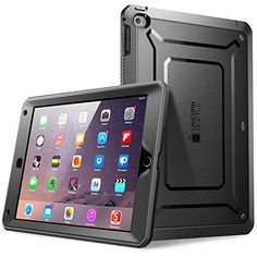 awesome iPad Air two Circumstance, SUPCASE [Major Responsibility] Apple iPad Air two Circumstance [2nd Generation] 2014 Release [Unicorn Beetle Pro Collection] Whole-body Rugged Hybrid Protective Circumstance Protect with Built-in Monitor Protector, Black/Black - Dual Layer Layout + Affect Resistant Bumper