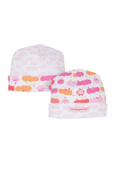 Magnificent Baby Reversible Baby Girl Cap in Girl Hippo. Please use coupon code NewProducts to receive 15% off these items. To receive the discount, please place your order by midnight Monday, April 20, 2015