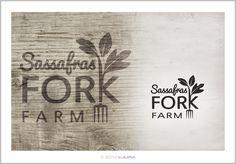 9.28.2012 | Sassafras Fork Farm logo by Kulura #natural #whimsical #fun