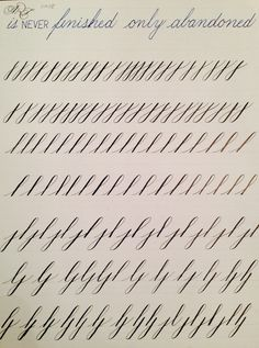 Copperplate Practice Strokes