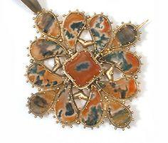 Dendritic Agate Georgian Pendant
