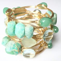 Love that these bracelets are in my favorite color: mint green