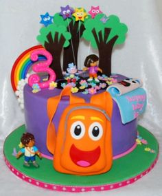 Dora & Diego Cake By kakealicious on CakeCentral.com