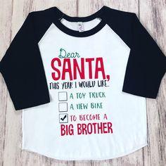 6e0e19c81 Christmas Pregnancy Announcement shirt, Promoted To Big Brother shirt,  pregnancy announcement shirt, soon to be big brother shirt