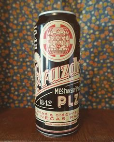 Limited edition Pilsner Urquell can featuring design elements from 174 year old…