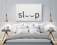 sleep – Bedroom – Printable Poster – Typography Print Black & White Wall Art Poster Print Scandi Art for Bedroom / GuestRoom Schlaf Schlafzimmer druckbare Poster Typografie Print schwarz & Black And White Wall Art, White Walls, Black White, Black Silver, Black Art, New Room, Decorating Your Home, Decorating Ideas, Decorating Websites