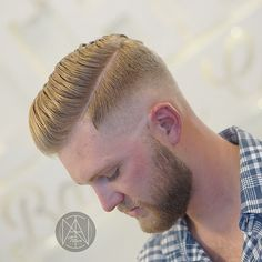titan_barber side part haircut for men
