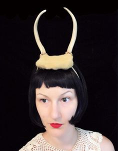 Deer Antler Headband  butterscotch base with two by doublespeak, $70.00