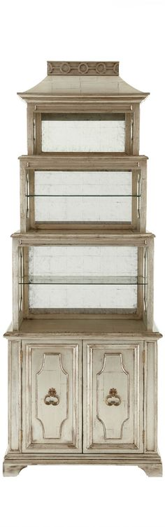 "John-Richard Collection  ""Pagoda"" Etagere"