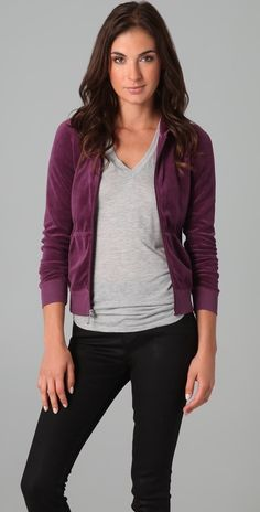 Juicy Couture Velour Hoodie thestylecure.com