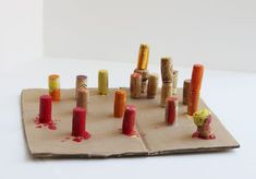 Process Art for Preschoolers: Cork Sculptures Unique Art Projects, Craft Projects For Kids, Projects To Try, Recycled Art, Recycled Materials, Toddler Activities, Learning Activities, Cork Art, Process Art