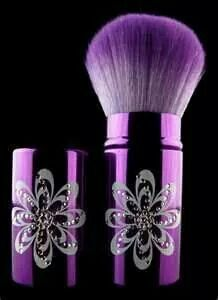 Pretty purple make up brush