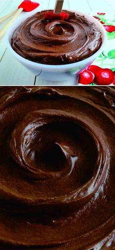 Chocolate Fudge Silk Buttercream - butter, buttercream, chocolate, corn, dark chocolate, dessert, recipes, vanilla