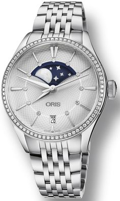 @oris  Watch Artelier Grande Lune Pre-Order #add-content #basel-17 #bezel-diamond #bracelet-strap-steel  #case-material-steel #case-width-36mm #date-yes #delivery-timescale-call-us #dial-colour-silver #gender-mens #luxury #moon-phase-yes #movement-automatic #new-product-yes #official-stockist-for-oris-watches #packaging-oris-watch-packaging #pre-order #pre-order-date-30-07-2017 #preorder-july #style-dress #subcat-artelier #supplier-model-no-01-763-7723-4951-07-8-18-79 #warranty-oris...