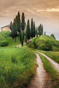 Tuscan farmland in Italy..