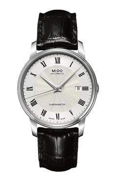 Mido Men's Baroncelli III  style #: M010.408.16.033.20 http://www.midowatch.com/en/content/m0104081603320
